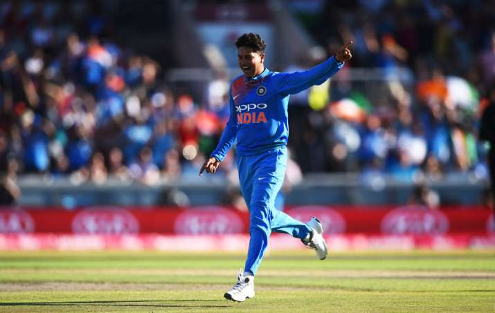 Kuldeep bamboozled the England batsmen in the first T20I in Manchester.  (Getty)