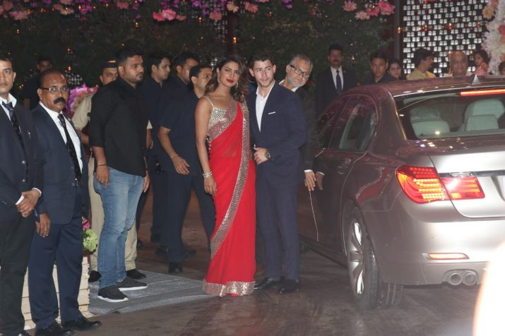 India Tv - Priyanka Chopra and Nick Jonas at Ambani bash