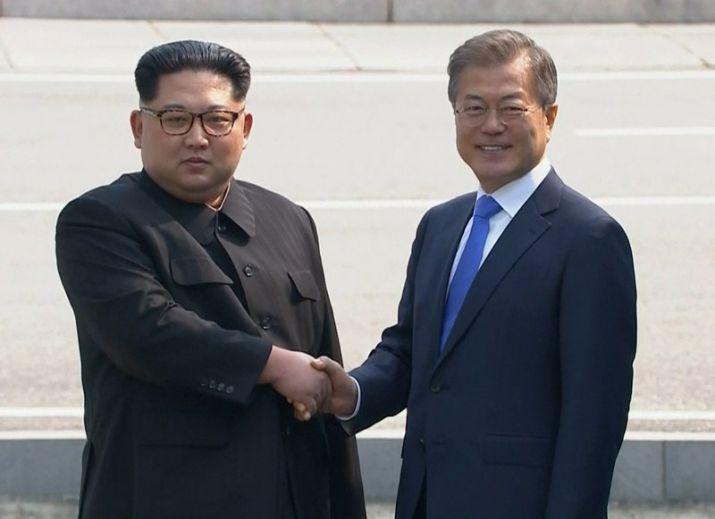 N. Korea and S. Korea