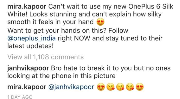 India Tv - Janhvi Kapoor's comment on Mira Kapoor's picture