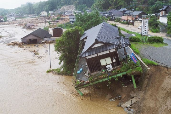 India Tv - Rainfall and flooding have led to casualties in Japan.