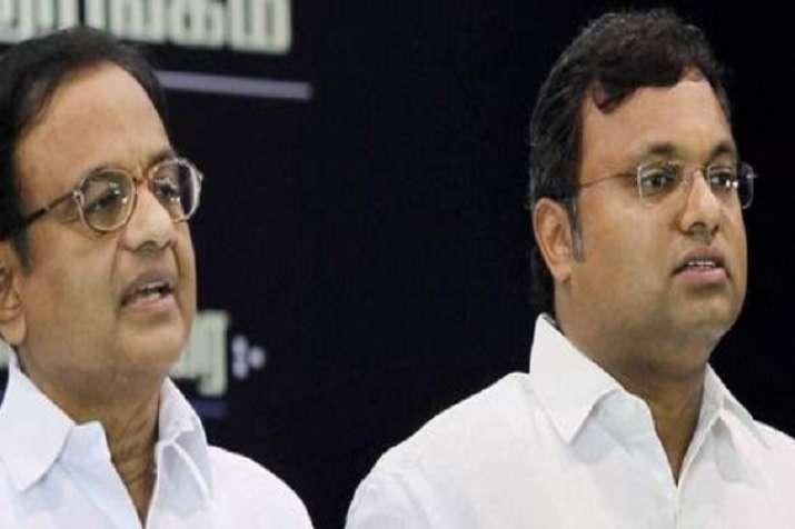 Former Union Minister P Chidambaram and his son Karti