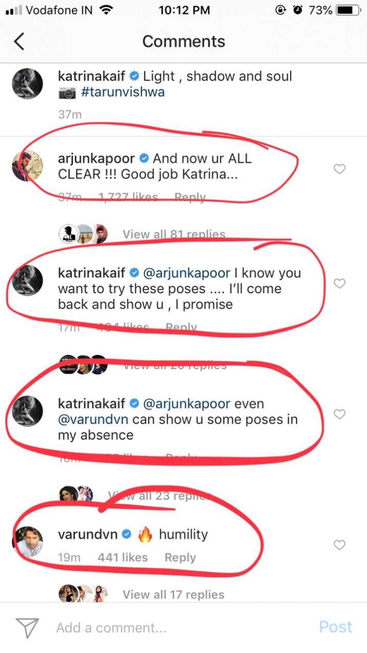 India Tv - Arjun Kapoor trolls Katrina Kaif