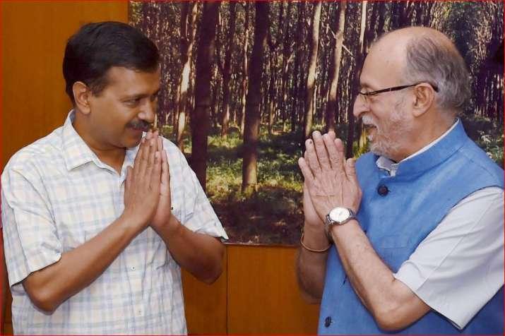 Arvind Kejriwal and Anil Baijal- File photo