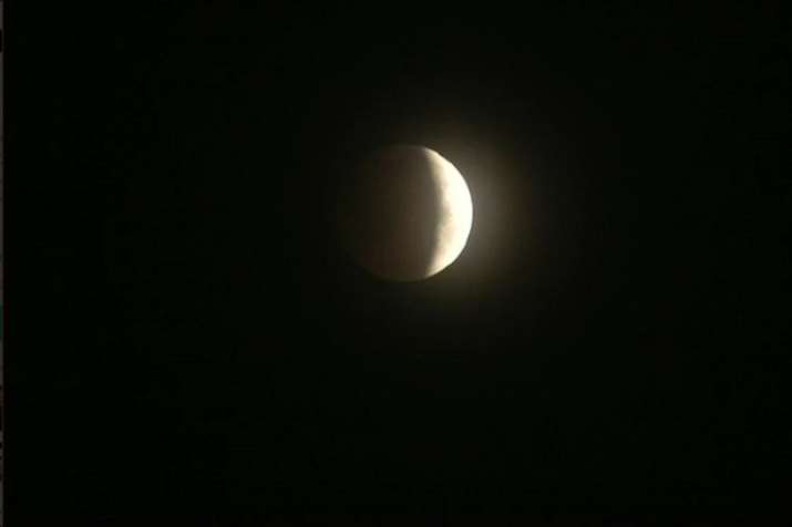 India Tv - Visuals of Lunar Eclipse from Punjab's Ludhiana