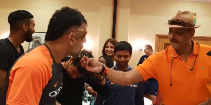 India Tv - Team India head coach Ravi Shastri with Dhoni