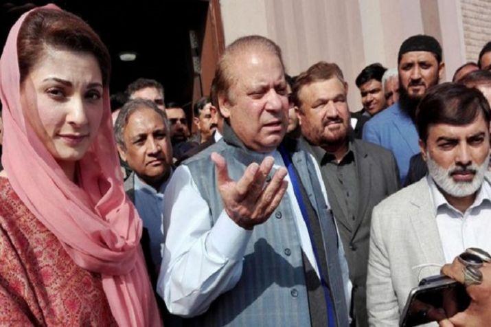 Nawaz Sharif and his daughter Maryam Nawaz