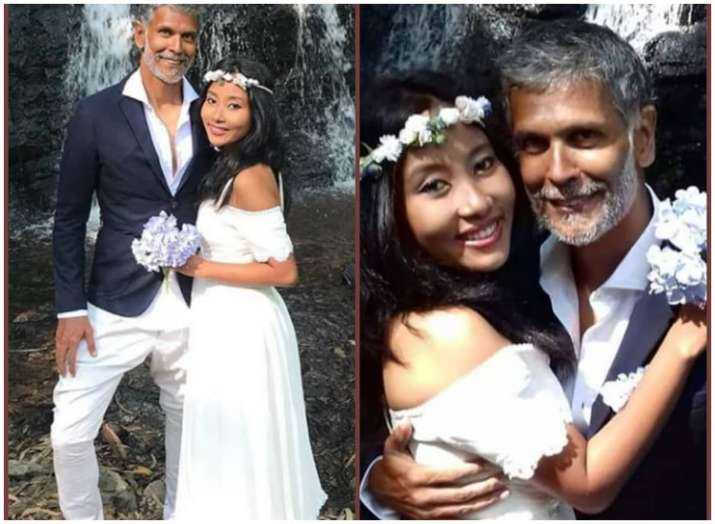 Milind Soman, Ankita Konwar get married again in Spain. See pictures from their barefoot wedding