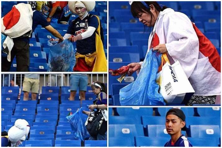 86fbbf7f3 FIFA World Cup 2018  Japan goes on to show its culture by cleaning ...