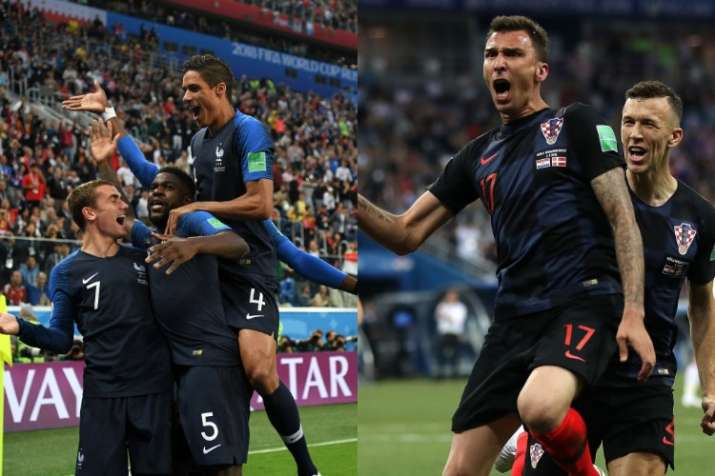 France face Croatia in the World Cup 2018 finals