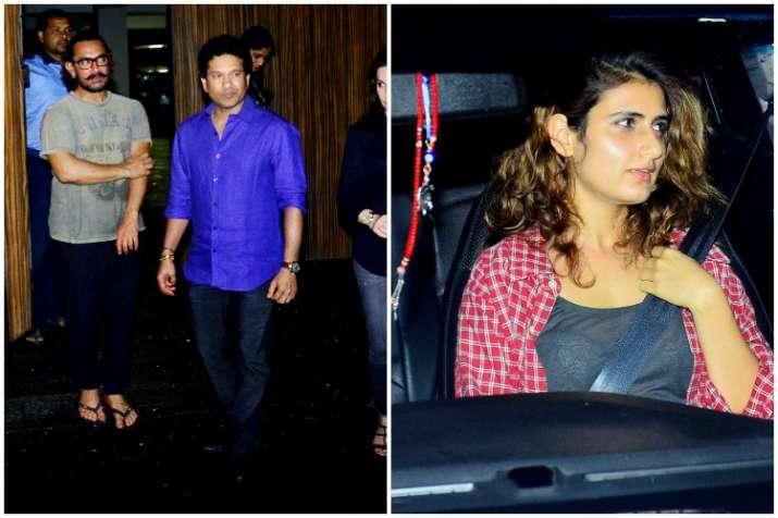 Aamir Khan, Sachin Tendulkar,Fatima Sana Shaikh