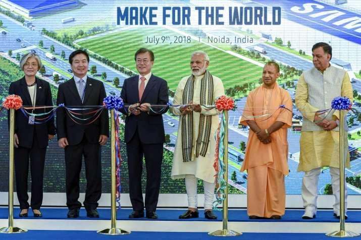 Prime Minister Narendra Modi with South Korean President