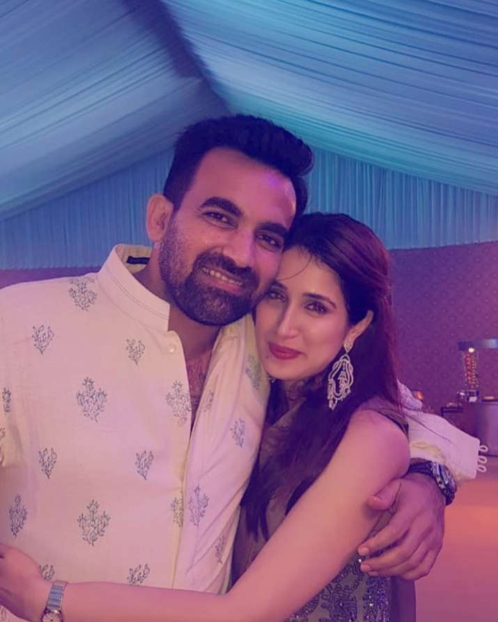 India Tv - Sagarika Ghatge and Zaheer Khan