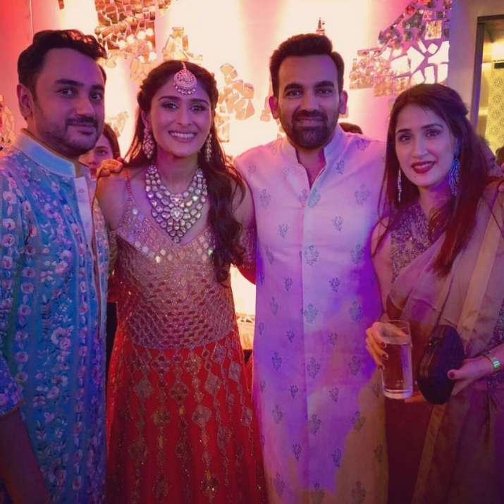 India Tv - Sagarika Ghatge and Zaheer Khan,