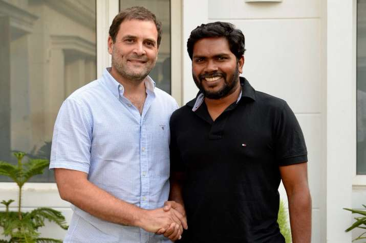 Congress President Rahul Gandhi with Tamil film director P