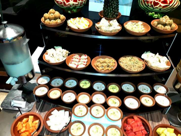 India Tv - An eye-popping view of Rajasthani Mithai at the food festival