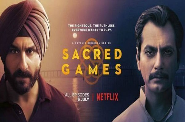A poster of Netflix series 'Sacred Games'