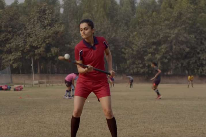 India Tv - Soorma Movie Review: Taapsee Pannu as Harpreet Kaur.