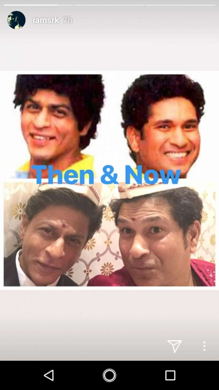 India Tv - Then and Now: Shah Rukh Khan and Sachin Tendulkar