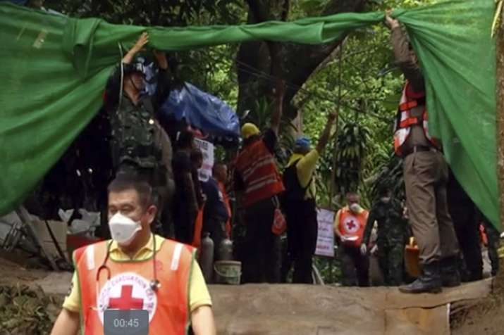 India Tv - The boys and their coach became stranded when they went exploring in the cave after a practice game June 23. Monsoon flooding cut off their escape and prevented rescuers from finding them for almost 10 days.