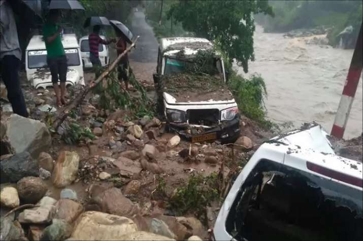 India Tv - Saryu river wreaks havoc in Uttarakhand's Bageshwar