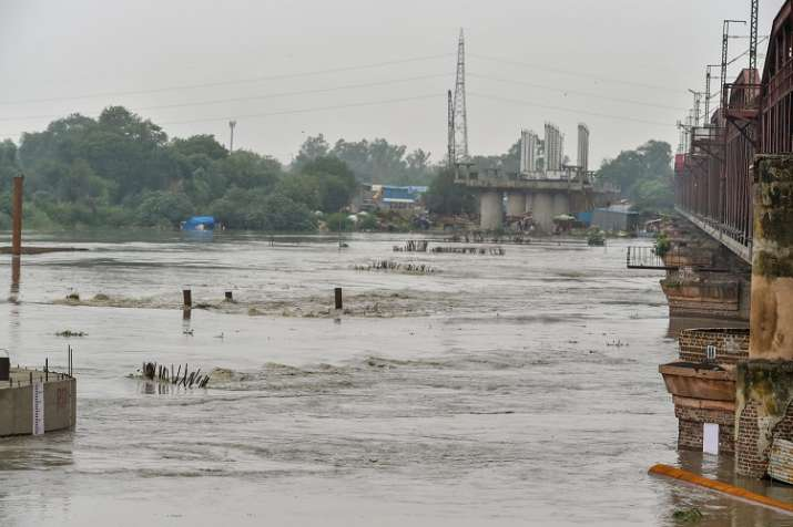 India Tv - A view of Yamuna river, in New Delhi on Saturday.