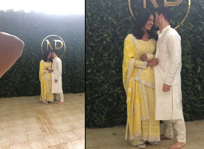 Image result for latest images of priyanka chopra and nick jonas roka ceremony and party