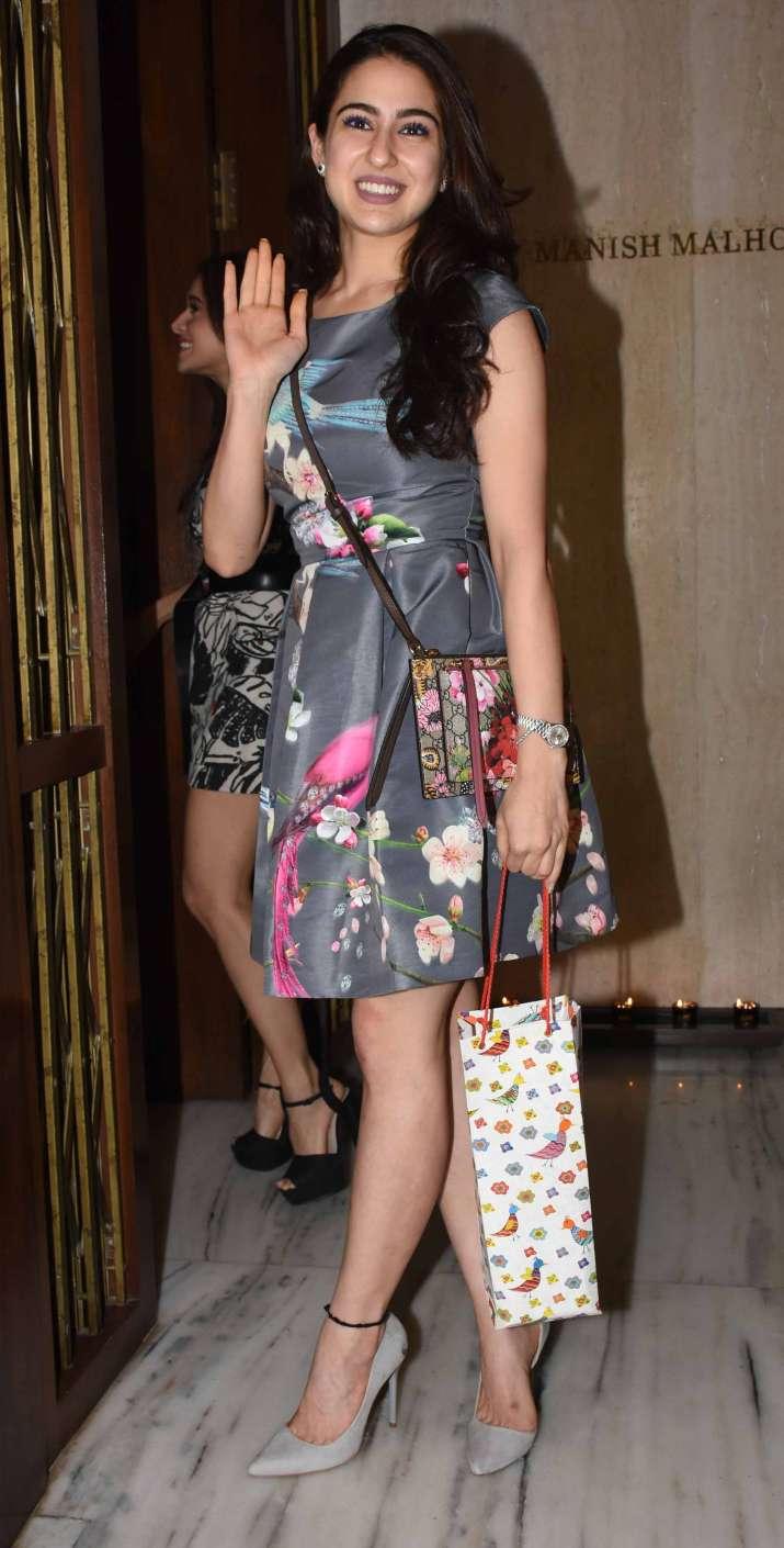 India Tv - Sara Ali Khan atManish Malhotra house party