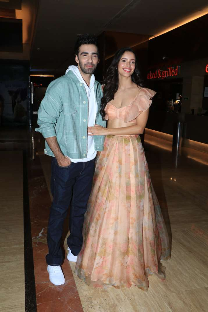 India Tv - Tripti Dimri and Mir Sarwar atLaila Majnu trailer launch event.