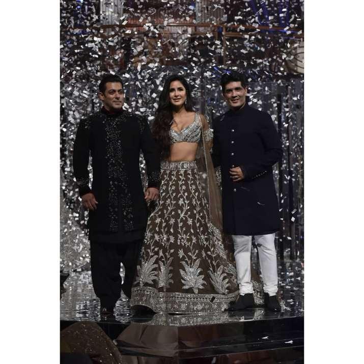 India Tv - Salman Khan, Katrina Kaif for Manish Malhotra