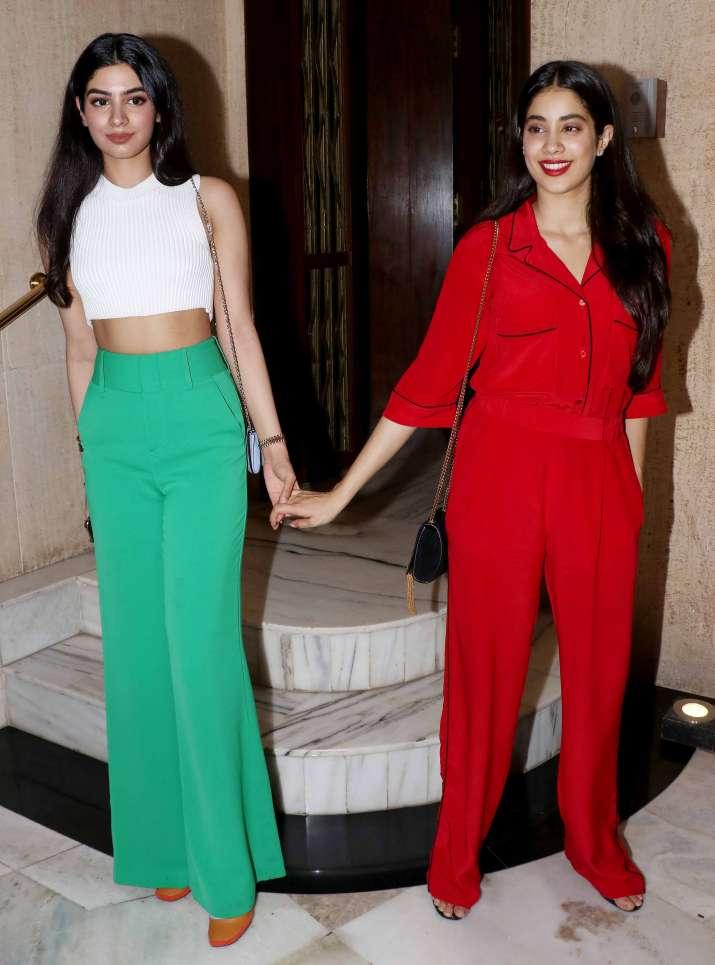 India Tv - Janhvi Kapoor and Khushi Kapoor atManish Malhotra house party