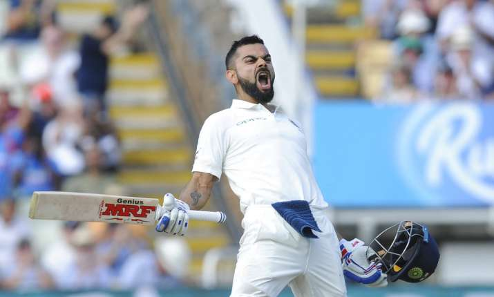 India Tv - Virat Kohli celebrates his 22nd Test century at Birmingham