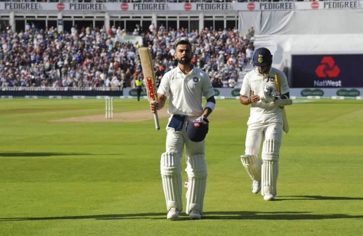 India Tv - Kohli was dismissed for 149 in the first innings at Edgbaston