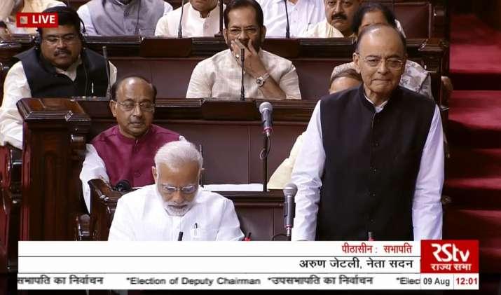 India Tv - Arun Jaitely addresses Rajya Sabha