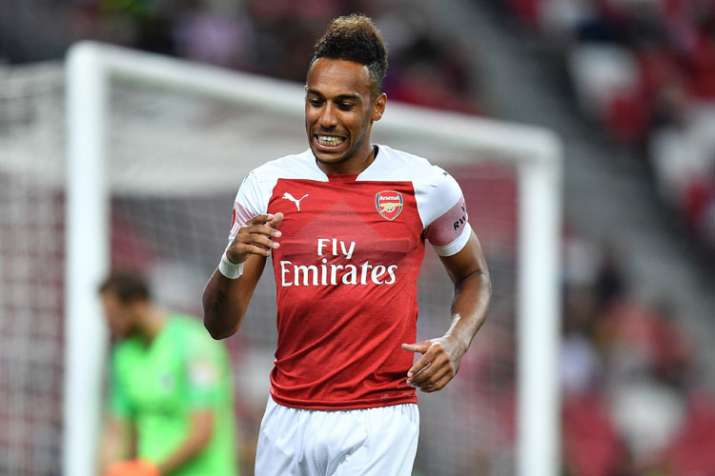 India Tv - A file image of Arsenal star Pierre-Emerick Aubameyang.