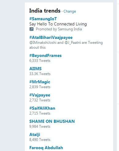 India Tv - Twitter trend