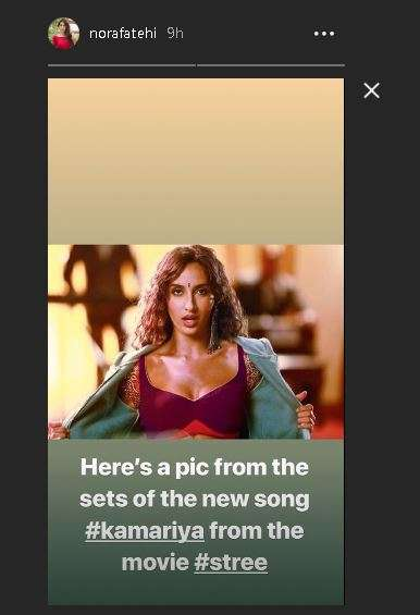 India Tv - Nora Fatehi's Instagramstory