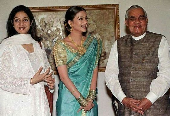 India Tv - Late former PM Atal Bihari Vajpayee with Bollywood celebrities