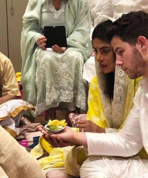 India Tv - Priyanka Chopra and Nick Jonas at Roka Ceremony