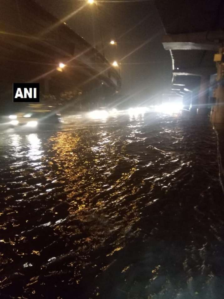 India Tv - Waterlogging in Delhi's Dhaula Kuan following heavy rainfall
