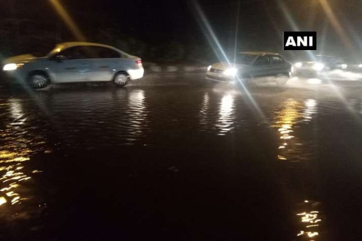 India Tv - Delhi receives heavy rainfall