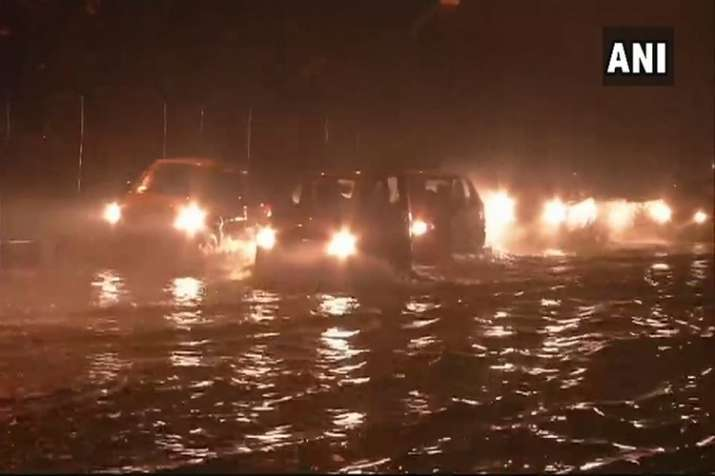 India Tv - Delhi streets flooded after heavy rainfall