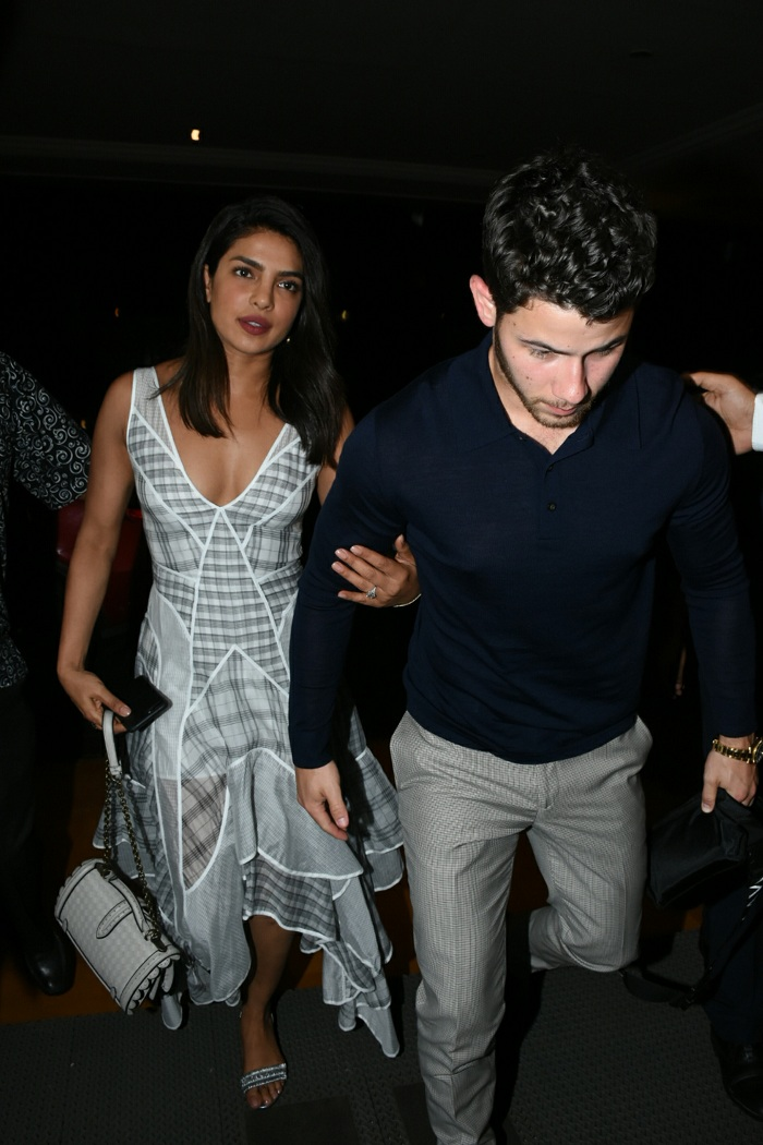 India Tv - Priyanka Chopra was spotted in a white and grey dress.
