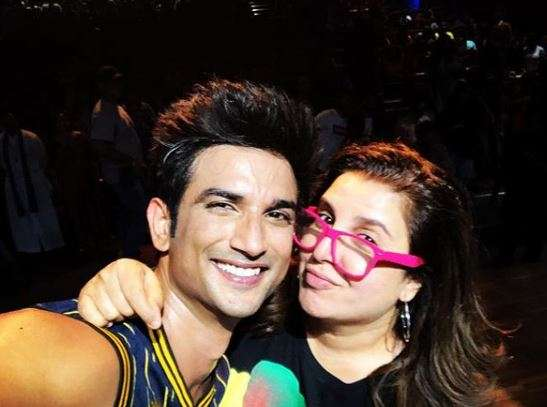 Sushant Singh Rajput and Farah Khan