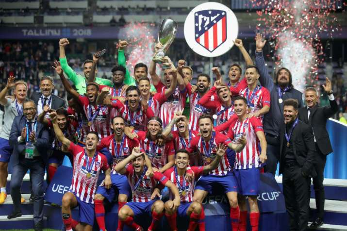 India Tv - Atletico beat Real Madrid to win the UEFA Super Cup