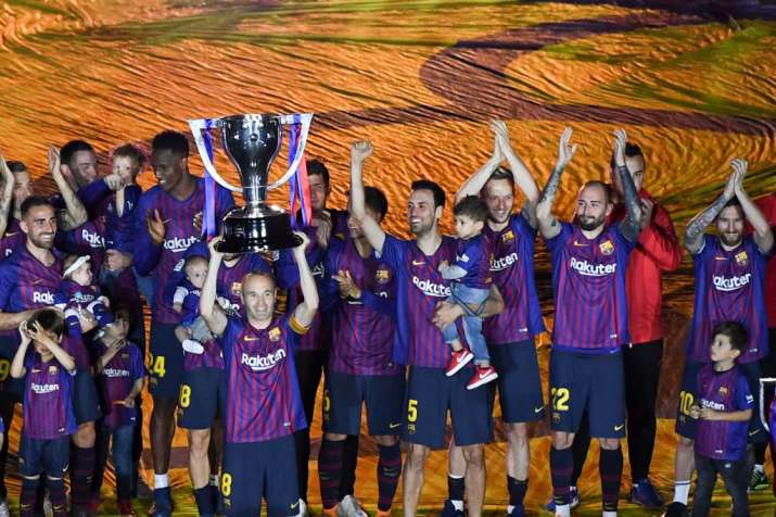 India Tv - FC Barcelona won the La Liga and the Copa del Rey in the 2017-18 season