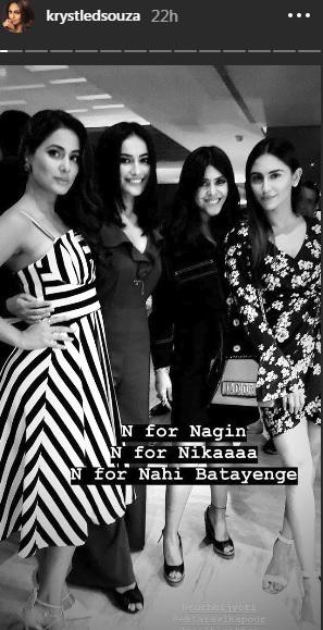 India Tv - Krystle D'Souza's Instagram story