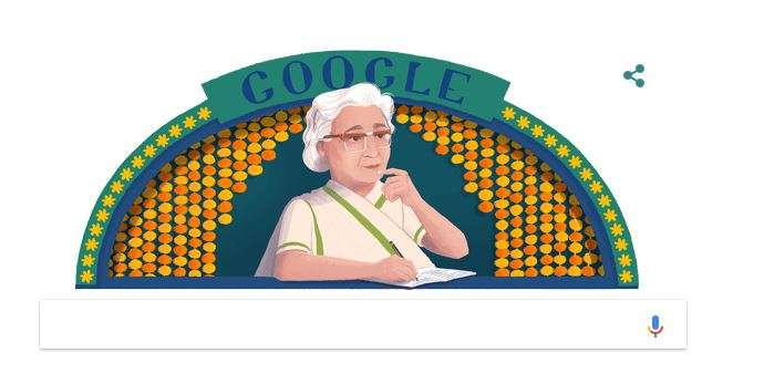 India Tv - Google celebrates remarkable Urdu writer Ismat Chughtai's 107th birthday with a Doodle