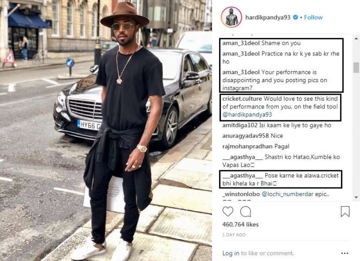 India Tv - The cricket fans didn't take matters lightly after Pandya took to Instagram