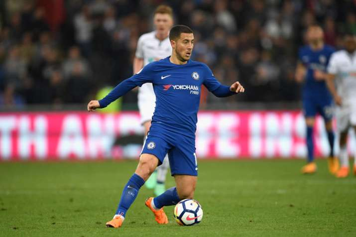 India Tv - A file image of Chelsea star Eden Hazard.